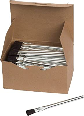 """Brush Research Acid Brush with Tinned Metal Handle, Horsehair, 1/2"""" Width, 6"""" Overall Length (Pack of 1)"""
