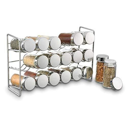 - Kitchen Pantry Storage 3Tier Spice Jar Rack Holder Cabinet Countertop Organizer