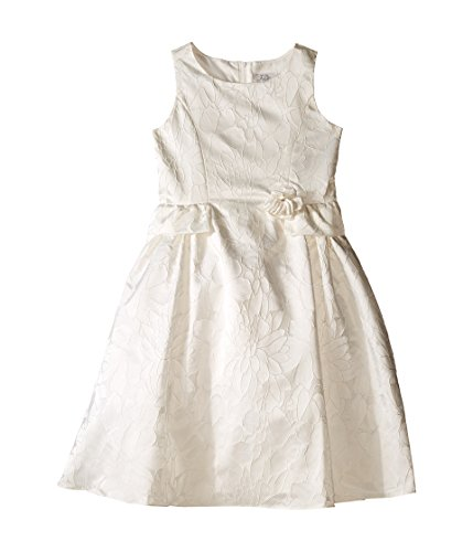 Us Angels Big Girls' Brocade Peplum At Waist Dress, Ivory, 14 by US Angels