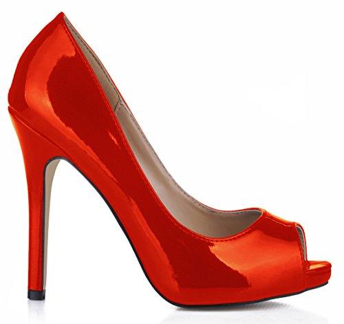 Mujer Discotecas Punta Mujeres Degustar Gran Alto De Solo Pearl Caen Zapatos Tinto Reformador Red El Pescado Talón Fine Sentido Las xC5YzYnwq7