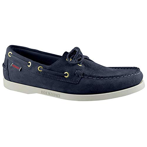 (Sebago Dockside Portland Slip On Shoes 11 D(M) US Blue Navy Suede)
