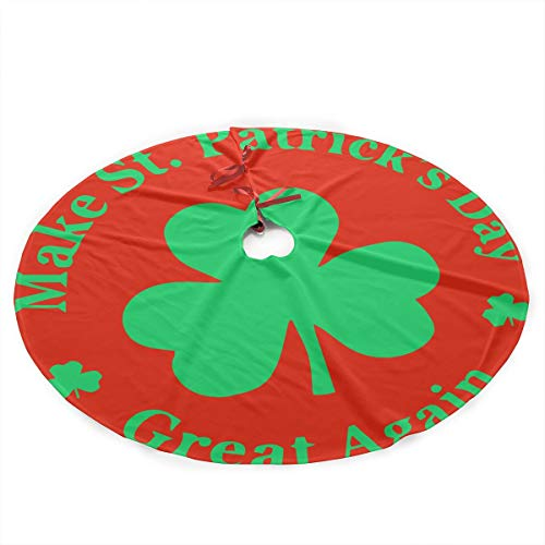 PD09II-I 35.5 Inch Xmas Tree Skirt, Traditional Make St Patricks Day Great Again Xmas Party Decoration for Holiday Party from PD09II-I