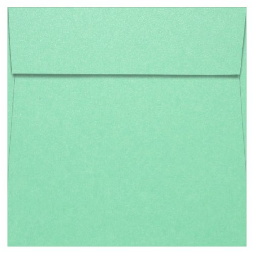 7 1/2 x 7 1/2 Lagoon Metallic Square Envelopes, Stardream 81lb, 25 (Stardream Lagoon Square)