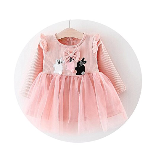 qingdg Long Sleeve Baby Girls Dress for 0-24M Princess Dress Newborn Baby Girls Infant ()