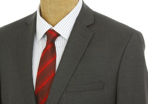 Joseph Abboud Mens Charcoal Gray Solid Wool Suit- Size 36R