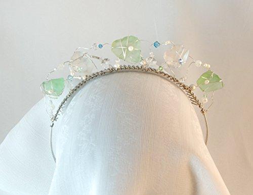Handmade Sea Glass Bridal Tiara by Willow Bridal