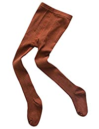 Baby Tights Pants Cotton Full Length Dance Stretch Kids Leggings Footed Age 1-3Y Brown