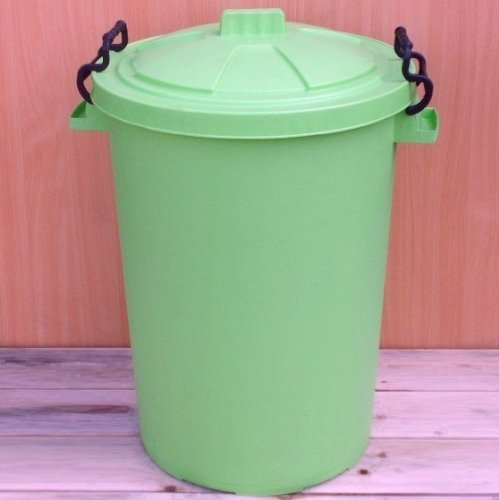 Lime Green 50 Litre Bin/Storage For Homes Gardens Animal Feed (Make In The UK) Image Accessories