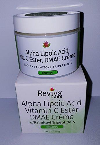 Reviva Labs Alpha Lipoic Acid Vitamin C Ester and DMAE Cream -- 2 (Dmae Night Cream)