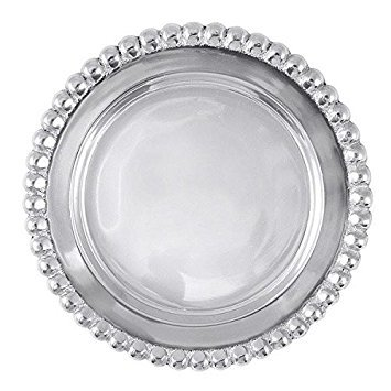 Mariposa 1162 Collection Beaded Wine Coaster, One Size, Silver