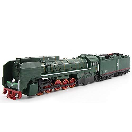 (Toy Train, Locomotive Steam Train, Diesel Locomotive Alloy Train Model, Children's Toy Pull Back Car Metal,Green)