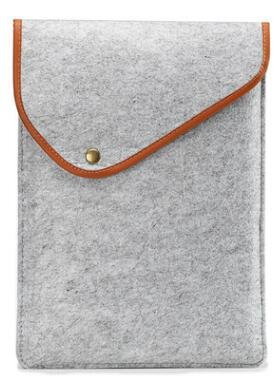 - wBest GREY 9'-9.7' inch Button Sleeve Wool Felt Carrying Case Pouch Cover Bag For Apple iPad Air /iPad Air 2/iPad Pro 9.7