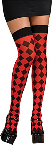Rubie's Costume Party Supplies Harley Quinn Thigh High Costume Accessory - Black/Red, Standard, Multicolor