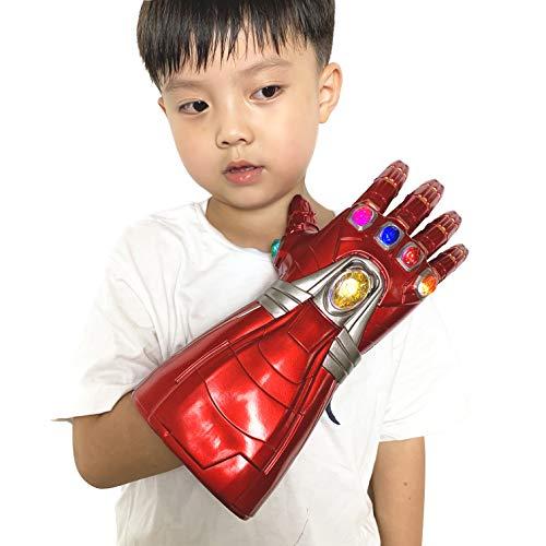 XXF Iron Man Infinity Gauntlet. Iron Man Infinity Glove led Stone Light Up Halloween Cosplay for Kids