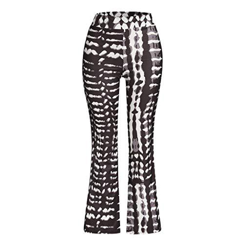 Wide Leg Pants for Womens Juniors, Jiayit Women's High Waist Wide Leg Long Palazzo Bell Bottom Yoga Pants