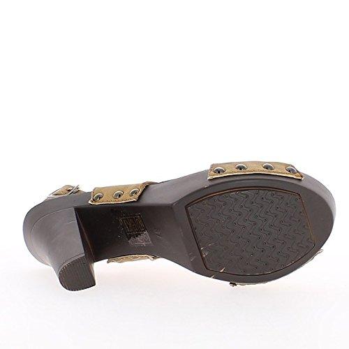 Material bi de blanco sandalias tacón grande 11cm