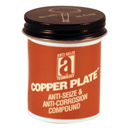 Copper Plate 21002 Anti-Seize Compound Without Graphite or Aluminum in a Non Melting Carrier, 2 oz, Copper, Paste Copper Base Anti Seize