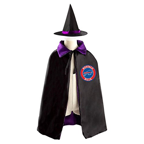 Buffalo Bill Costumes (Buffalo Bills Boo Kids Halloween Cloak Cosplay Witch Costume Wizard Cape)
