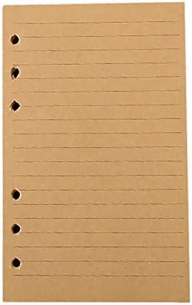 chytaii Notizbuch zu Blatt Mobile Papiere Refill Blatt Inserts liniert 6Ringe A6 A6 feuilles