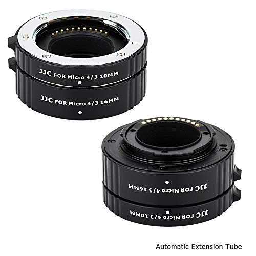 JJC Micro 4/3 Auto Focus Macro Extension Tube Set for Olympus OM-D E-M1 Mark II E-M5 Mark II E-M10 Mark III/PEN E-PL9 E-PL8 PEN-F,Panasonic Lumix G9 G7 G85 G95 GX85 GX9 GX8 GX7 GH5 GH5S GH4 and More
