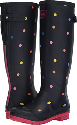 Joules Women's Wellyprint Rain Boot, Navy Pop Spot, 8 Medium US by Joules (Image #3)