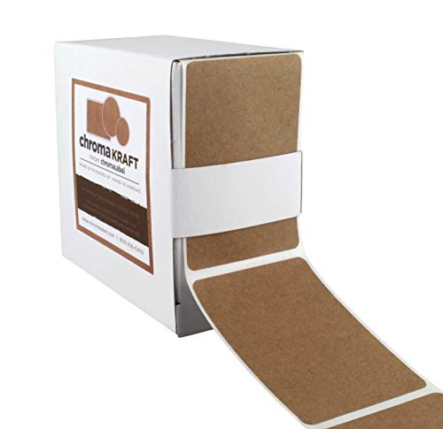 Border Sticker Paper - ChromaLabel Kraft Labels | 250/Dispenser Box (2 x 3 inch)