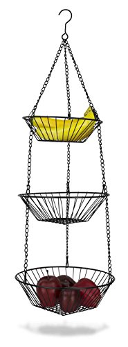 Home Basics Hanging Basket 3-Tier Round