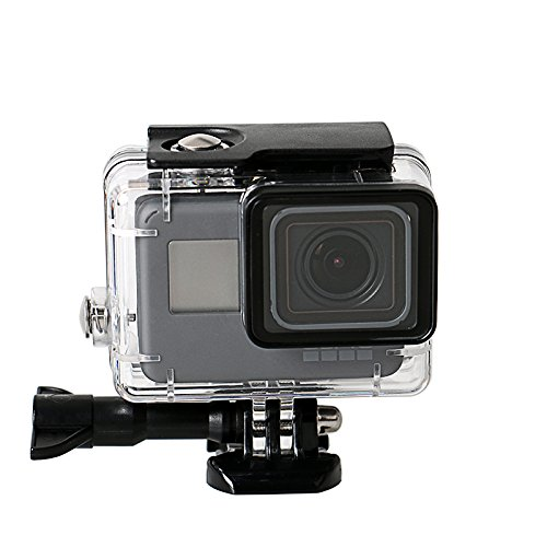 Flycoo2 Waterproof Protective Housing Case for GoPro Hero 2018/7 Black/6/5 Anti-Shock 40m Underwater Dive Case Shell with Bracket Accessories for Go Pro Hero7 Black Hero6 Hero5 Hero2018 Action Camera ()
