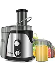 ELEHOT Juicer Machine Juice Extractor 800 Watt Wide Mouth Stainless Steel Dual-Speed Centrifugal Juicer for Fruits and Vegetable