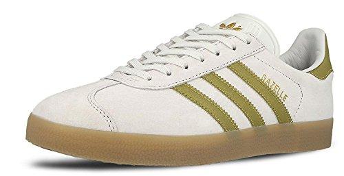Adidas Vintage Gum para Metallic Hombre Zapatillas Gold Leather Gazelle White rqTXrZ