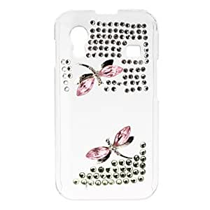 Dragonfly Pattern Hard Case with Rhinestone for Samsung Galaxy Ace S5830