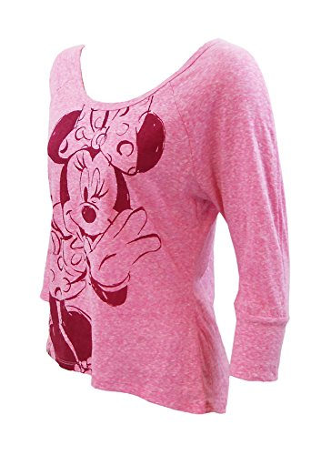 Disney Minnie Mouse Winks Pink Jersey Long Sleeve, X-Large