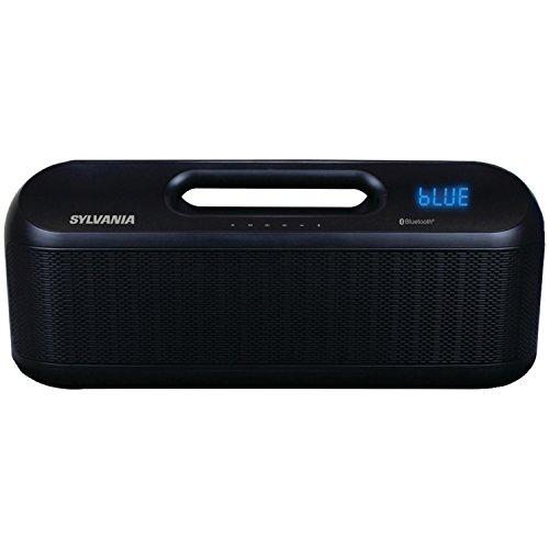 Sylvania SP399 Portable Bluetooth Speaker with FM Radio (Black)
