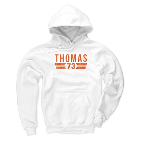 Fleece Cleveland Browns White (500 LEVEL Cleveland Browns Men's Hoodie - XXX-Large White - Joe Thomas Font O)