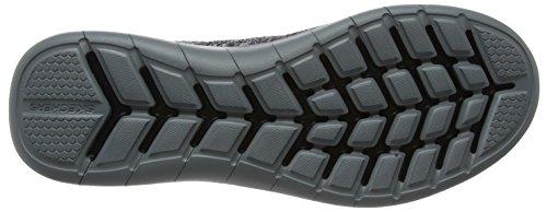 Skechers Hombre Zapatillas de Gris Smyzer Gray Entrenamiento Quantum Flex Black para rawOr0