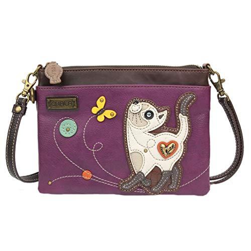 Chala Slim Cat Mini Crossbody Handbag - Convertible Strap, Cat Lovers Gift