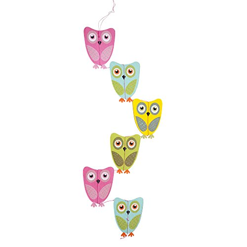 "39"" Handcrafted Paper Owl Garland, Owl Themed Baby Shower, Birthday Party Decorations, Door Hanger Accessories Backdrop Kids (Owl Themed Party Decorations)"