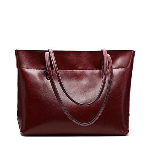 pratiche laptop a signore pelle marrone e B grande in rosso B semplici Borsa tracolla colore capacità Kervinzhang One vino nv7dWYY6R