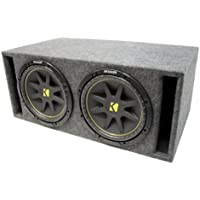 ASC Package Dual 10 Kicker Sub Transmission Line Port Subwoofer Enclosure C10 Comp 600 Watts Peak
