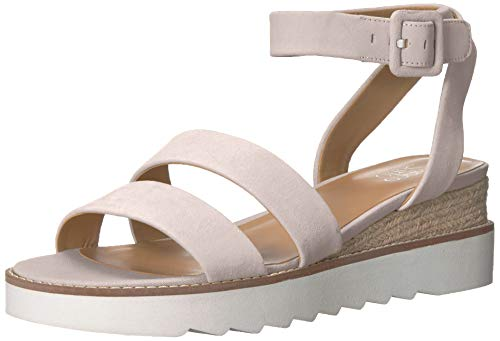 Franco Sarto Women's Connolly Wedge Sandal, Light Grey, 6.5 M US from Franco Sarto