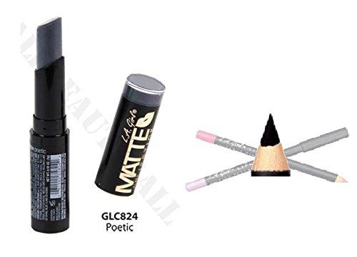 L.A. Girl Matte Velvet Lipstick GLC824 With GP520 Lip liner