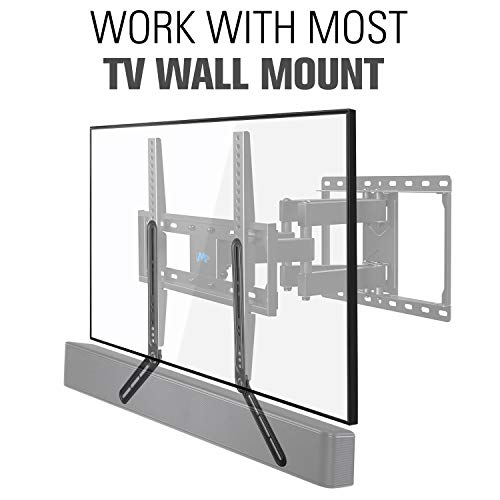 Mounting Dream Soundbar Mount Sound Bar TV Bracket for Mounting Above or Under TV Fits Most of Sound Bars Up to 22 Lbs, with Detachable Long and Short Extension Plates MD5420