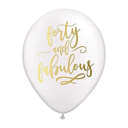 Amazon.com: 40 globos fabulosos, 40 globos de fiesta de ...