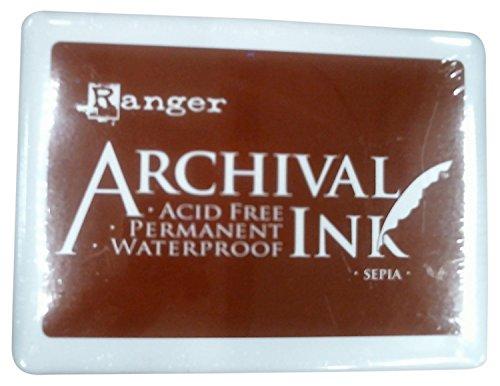 Ranger A3P-6725 Archival No.3 Jumbo Inkpad, Sepia by Ranger