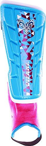 Vizari Frost Shin Guard, Blue/Maroon, Size X-Small