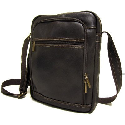 Le Donne Leather Distressed Leather iPad / eReader Day Bag (Chocolate)