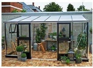 Invernadero de cristal templado Veranda 9, 8 m²: Amazon.es ...