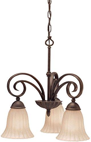 (Kichler 3326TZ Kitchen Nook Chandelier Lighting, Tannery Bronze 3-Light (19