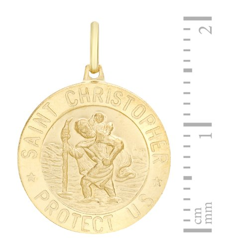 Carissima Gold - Médaille Pendentif Saint Christopher - Or jaune (9 carats) 3.8 Gr