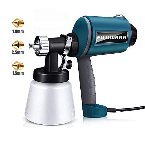Paint Sprayer Electric HVLP Airless Paint Gun with 3 Spray Patterns, 3 Chrome-Plated Nozzle Sizes, Adjustable Valve Knob, 900ml Detachable Container from ()
